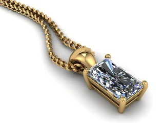 Certified Radiant-Cut Diamond Pendant-10-28913
