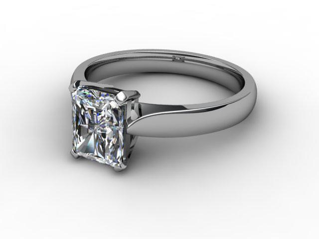 Certificated Radiant-Cut Diamond Solitaire Engagement Ring in Palladium