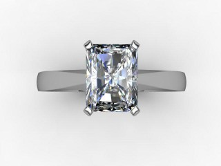Certificated Radiant-Cut Diamond Solitaire Engagement Ring in Palladium - 9