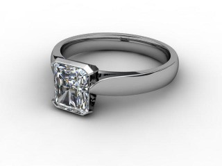 Certificated Radiant-Cut Diamond Solitaire Engagement Ring in Palladium