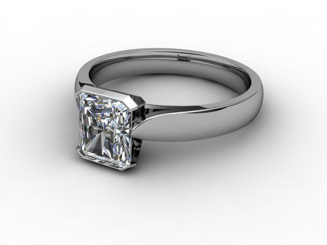 Certificated Radiant-Cut Diamond Solitaire Engagement Ring in Palladium - Main Picture