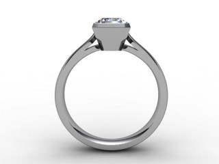 Certificated Radiant-Cut Diamond Solitaire Engagement Ring in Palladium - 6