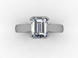 Certificated Radiant-Cut Diamond Solitaire Engagement Ring in Palladium - 12