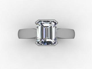 Certificated Radiant-Cut Diamond Solitaire Engagement Ring in Palladium - 9