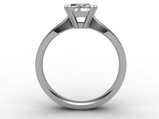Certificated Radiant-Cut Diamond Solitaire Engagement Ring in Palladium - 3