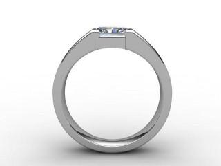 Certificated Radiant-Cut Diamond Solitaire Engagement Ring in Palladium - 3