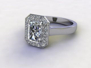 Certificated Radiant-Cut Diamond in Palladium-10-6600-8912