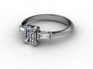 Certificated Radiant-Cut Diamond in Palladium