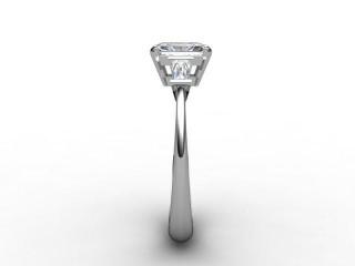 Certificated Radiant-Cut Diamond in Palladium - 6