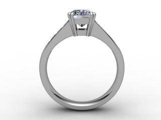 Certificated Radiant-Cut Diamond in Palladium - 3