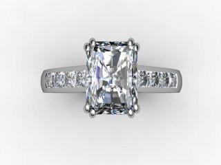 Certificated Radiant-Cut Diamond in Palladium - 9