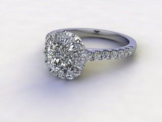 Certificated Cushion-Cut Diamond in Platinum-11-0100-8953
