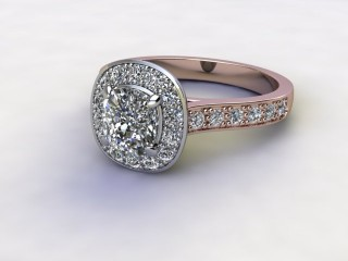 Certificated Cushion-Cut Diamond in 18ct. Rose Gold-11-0400-8908
