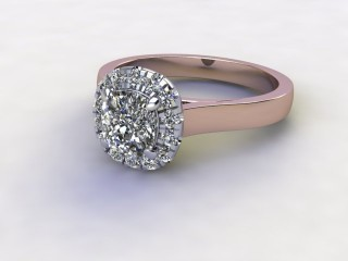 Certificated Cushion-Cut Diamond in 18ct. Rose Gold-11-0400-8913