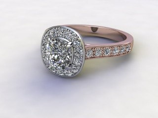 Certificated Cushion-Cut Diamond in 18ct. Rose Gold-11-0400-8952