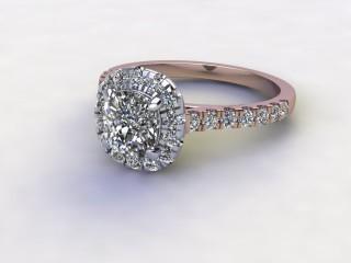 Certificated Cushion-Cut Diamond in 18ct. Rose Gold-11-0400-8953