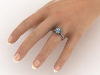 Certificated Cushion-Cut Diamond in 18ct. Rose Gold-11-0400-8954