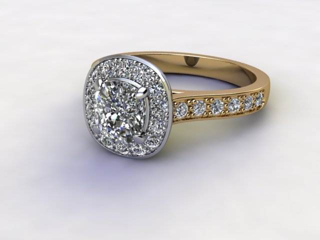 Certificated Cushion-Cut Diamond in 18ct. Gold