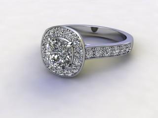 Certificated Cushion-Cut Diamond in Palladium-11-6600-8952