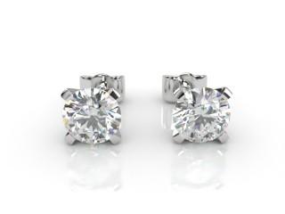 Platinum Our Signature Setting Round Diamond Stud Earrings