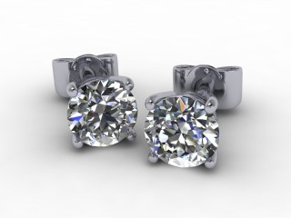 1.00cts. Platinum LAB GROWN Diamond Earstuds-20-0100-100LG
