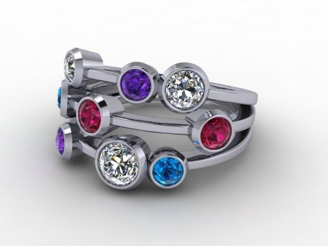 Platinum Diamond & Coloured Stones