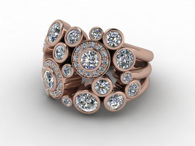 18ct. Rose Gold & Diamond
