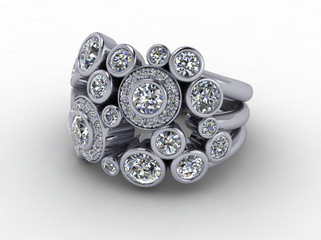 18ct. White Gold & Diamond
