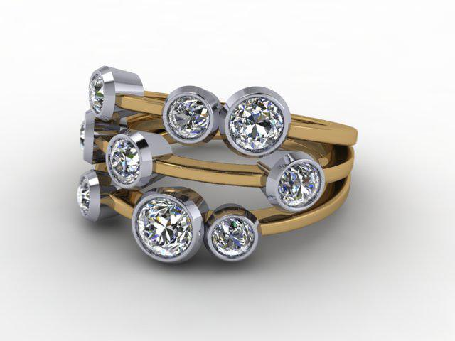 18ct. Yellow & White Gold & Diamond