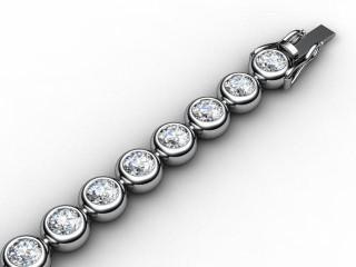 4.96cts. 5.0mm. Wide Premier 18ct. White Gold Diamond Tennis Bracelet-51-05031-0496