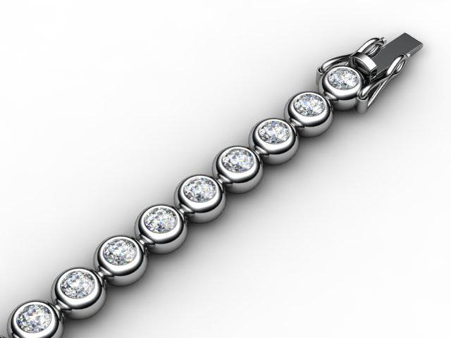2.22cts. 4.0mm. Wide  Premier 18ct. White Gold Diamond Tennis Bracelet