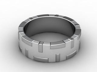 Designer Band Men's Ring in Platinum-69-01019