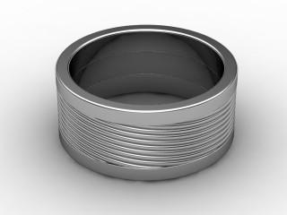 Designer Band Men's Ring in Platinum-69-01024