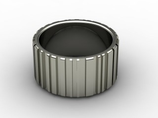 Designer Band Men's Ring in Platinum-69-01029