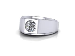 Signet Ring Men's Ring in Platinum-69-01033