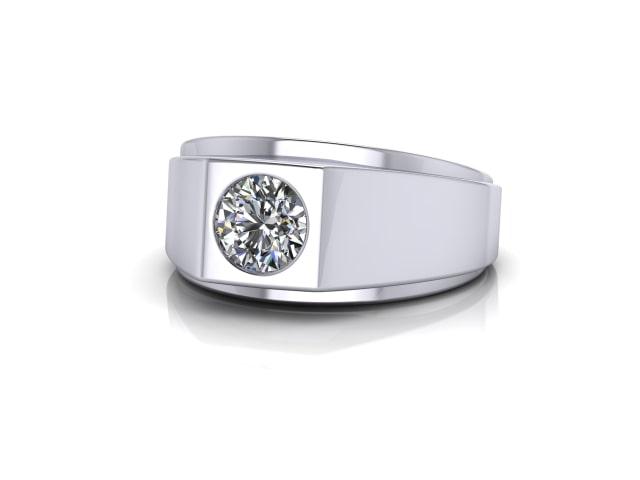 Signet Ring Men's Ring in Platinum