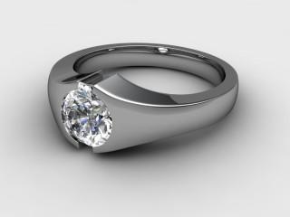 Single Stone Diamond Men's Ring in Platinum-69-01035