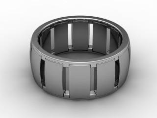 Designer Band Men's Ring in Platinum-69-01040