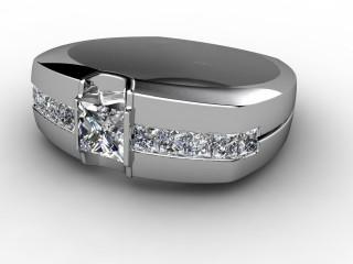 Single Stone Diamond Men's Ring in Platinum