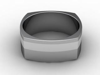 Designer Band Men's Ring in Platinum-69-01043