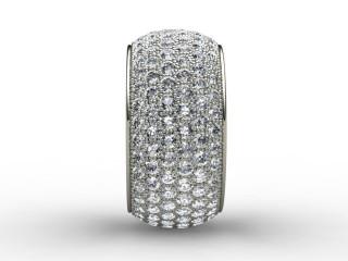Multi Diamond Men's Ring in 18ct. White Gold
