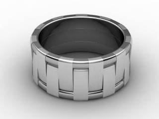 Designer Band Men's Ring in 18ct. White Gold-69-05020