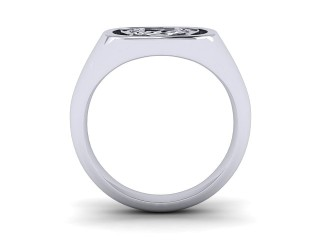 Signet Ring Men's Ring in 18ct. White Gold