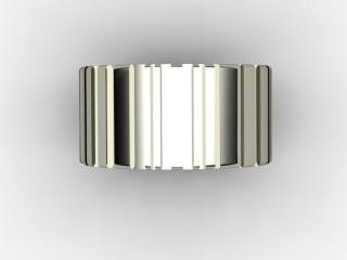 Designer Band Men's Ring in 18ct. White Gold