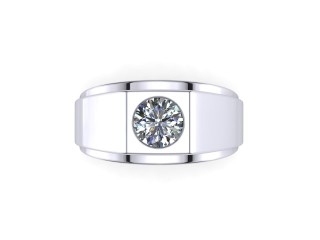 Signet Ring Men's Ring in 18ct. White Gold