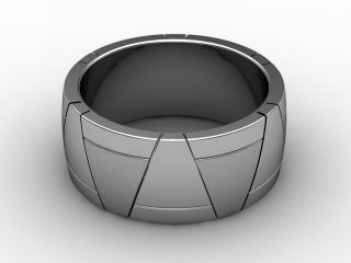 Designer Band Men's Ring in 18ct. White Gold-69-05038
