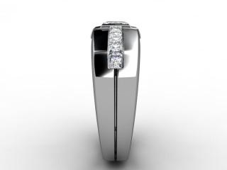 Single Stone Diamond Men's Ring in 18ct. White Gold