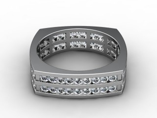 Multi Diamond Men's Ring in 18ct. White Gold-69-05045