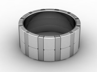 Designer Band Men's Ring in 18ct. White Gold-69-05050
