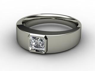Single Stone Diamond Men's Ring in 18ct. White Gold-69-05136